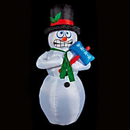 (H)2.1m LED Shivering snowman Christmas inflatable