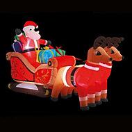 (H)3m LED Santa's sleigh Christmas inflatable