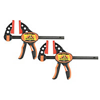 Roughneck Ratchet clamp 152mm, Pack of 2