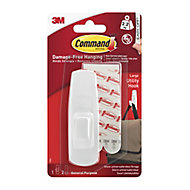 3M Command White Plastic Hook