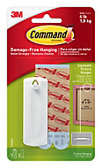 3M Command White Adhesive saw-toothed picture hanger, 3 Pieces