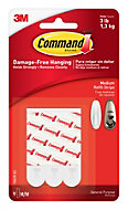 3M Command White Plastic Mounting/refill strips, Pack of 9