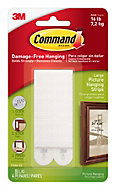 3M Command White Foam Picture hanging strips, Set of 4