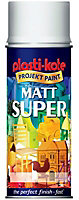 Plasti-Kote Super White Matt Multi-surface Spray paint, 400ml