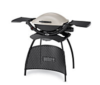 Weber Q2000 2 Burner Cream Gas Barbecue with stand
