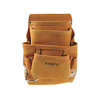 Kunys Full-Grain Leather Carpenters Nail & Tool Belt