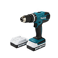 Makita G-Series 18V 1.5Ah Li-ion Cordless Combi drill 2 batteries HP457DWEX2