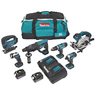 Makita LXT Cordless 18 V 5Ah 6 piece Power Tool Kit
