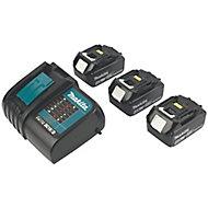 Makita LXT 18V 4Ah Li-ion Cordless 4 piece Power tool kit DLX4111SM