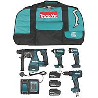 Makita LXT Cordless 18 V 4Ah 4 piece Power Tool Kit