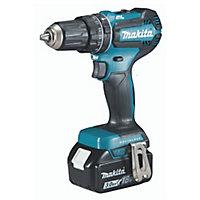 Makita LXT Cordless 18V 3Ah Li-ion Brushless Combi drill 2 batteries DHP485SFE