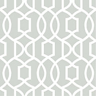 Wallpops Grey Grand trellis Smooth Wallpaper