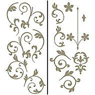 Wallpops Nouveau damask Gold effect Self-adhesive Wall sticker (H)760mm (W)1500mm