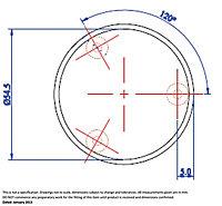 Satin Silver Nickel effect Round Door knob (Dia)51mm, Pack of 2