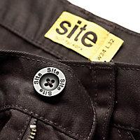 """Site Beagle Black Men's Trousers, W40"""" L32"""""""