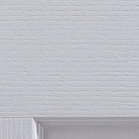 4 panel Pre-painted White Woodgrain effect LH & RH Internal Door, (H)1981mm (W)686mm