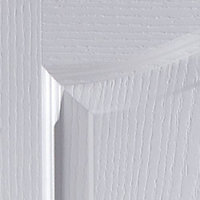 2 panel Arched Pre-painted White Woodgrain effect LH & RH Internal Door, (H)1981mm (W)762mm