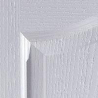 2 panel Arched Primed White Woodgrain effect LH & RH Internal Door, (H)1981mm (W)686mm