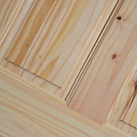 6 Panel Knotty pine Internal Standard Door, (H)1981mm (W)762mm