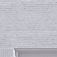 4 panel Pre-painted White Woodgrain effect LH & RH Internal Door, (H)1981mm (W)762mm