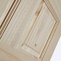 6 Panel Knotty pine Internal Standard Door, (H)1981mm (W)610mm