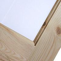 4 Panel Knotty pine Internal Standard Door, (H)2032mm (W)813mm