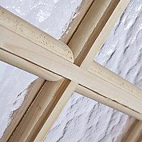 15 Lite Obscure Glazed Knotty pine LH & RH Internal Door, (H)1981mm (W)686mm