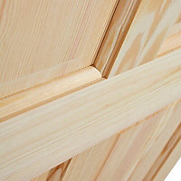 4 panel Clear pine LH & RH Internal Door, (H)2032mm (W)813mm