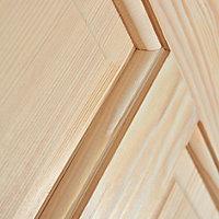 4 panel Clear pine LH & RH Internal Door, (H)1981mm (W)686mm