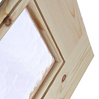 15 Lite Obscure Glazed Knotty pine LH & RH Internal Door, (H)1981mm (W)838mm
