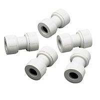 Push fit Straight coupler, Pack of 5