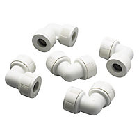 Push-fit 90° Pipe elbow, Pack of 5