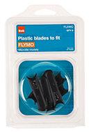 B&Q FL246Q Plastic Lawnmower blade, Pack of 6