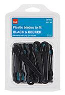 B&Q GP205 Plastic Lawnmower blade, Pack of 20