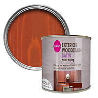 Colours Oak Satin Doors & windows Wood stain, 0.25L