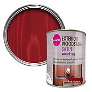 Colours Deep mahogany Satin Doors & windows Wood stain, 0.75L