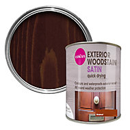 Colours Walnut Satin Doors & windows Wood stain, 0.75L