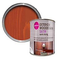 Colours Oak Satin Doors & windows Wood stain, 0.75L