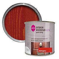 Colours Mahogany Satin Doors & windows Wood stain, 2.5L