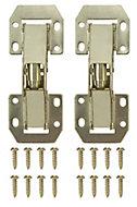 B&Q Brass effect Metal Sprung Door hinge (L)106mm, Pack of 2