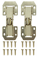 B&Q Brass effect Metal Sprung Door hinge (L)106mm, Pack of 2