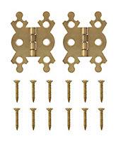 Brass-plated Metal Flush Door hinge (L)40mm