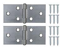 Steel Backflap Door hinge (L)38mm, Pack of 2