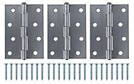 Steel Loose pin Butt hinge, Pack of 3