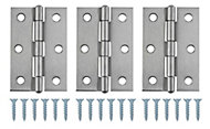 Stainless steel Butt hinge, Pack of 3