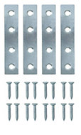 B&Q Zinc effect Steel Mending plate (L)75mm, Pack of 20