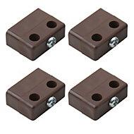 B&Q Brown Polypropylene Locking joint (L)36mm, Pack of 4