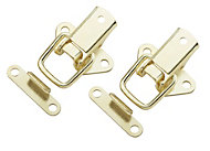 B&Q Brass effect Toggle & plate catch, Pack of 2