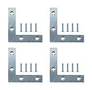 Steel Corner plate, Pack of 4