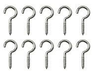 Nickel-plated Metal Storage hook (L)25mm, Pack of 10